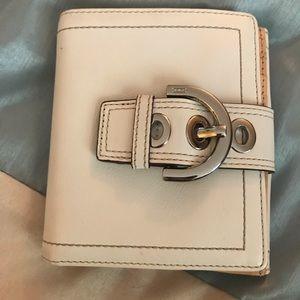 White Coach Soho French Wallet
